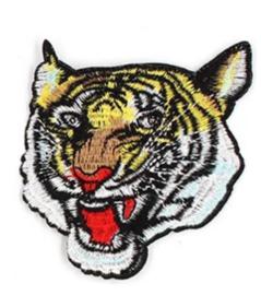 Patch tijgerkop groot
