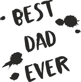 strijkapplicatie best dad ever verfspetters