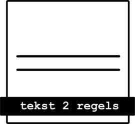 tekst 2 regels