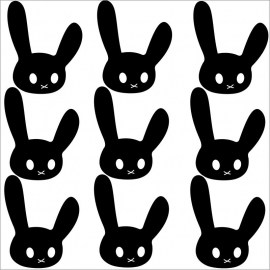 Strijkapplicatie strooi konijn