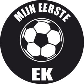 Strijkapplicatie EK 'mijn eerste ek' voetbal