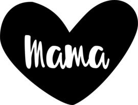 strijkapplicatie hart mama