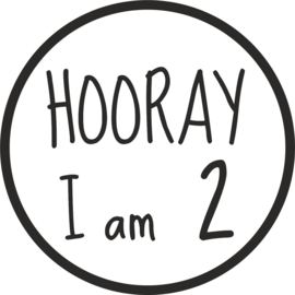 sticker verjaardag Hooray cirkel