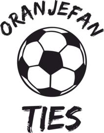 Strijkapplicatie EK  naam 'Oranjefan' voetbal