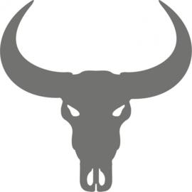 strijkapplicatie Buffel schedel