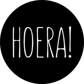 herbruikbare raamsticker verjaardag Hoera! cirkel