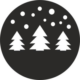 strijkapplicatie kerstbomen sneeuw kerstbomen