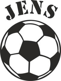 Strijkapplicatie EK  voetbal naam