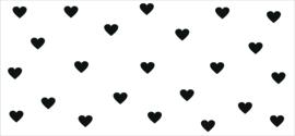 Sticker keukentje achterwand hartjes