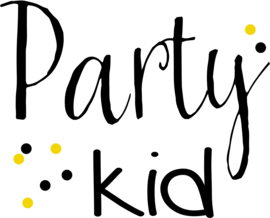 strijkapplicatie Party Kid 2 kleuren