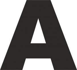 strijkapplicatie letter