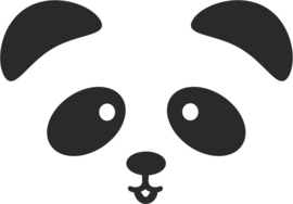 Muursticker panda snoet