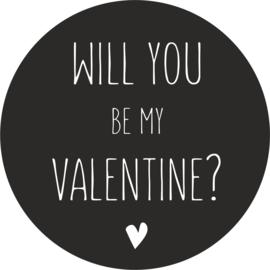 strijkapplicatie Will you be my Valentine?
