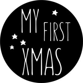 strijkapplicatie 'my first xmas'