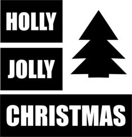 strijkapplicatie holly jolly kerstboom