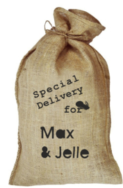 Jute zak - special delivery