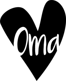 strijkapplicatie hart oma