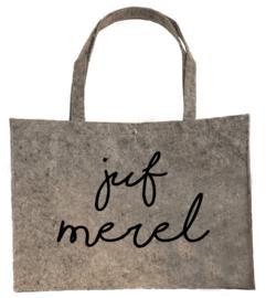 Vilten shopper Juf naam