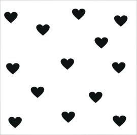 Sticker keukentje deurtje hartjes