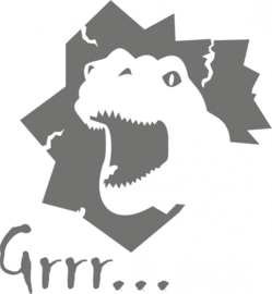 strijkapplicatie Dino grrr