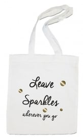 linnen tas - leave sparkles wherever you go