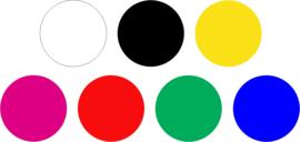Statische raamsticker letters & cijfers (herbruikbaar)