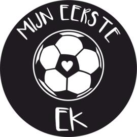 Strijkapplicatie EK 'mijn eerste ek' voetbal hartje