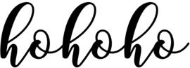herbruikbare raamsticker Hohoho