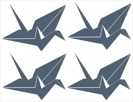 Muursticker Kraanvogels