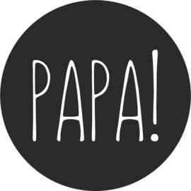 strijkapplicatie papa! cirkel strak