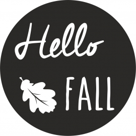 Strijkapplicatie hello fall