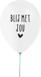 Ballon 'blij met jou'