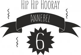 sticker verjaardag hip hip hooray