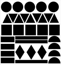 Statische raamsticker geometrische vormen (herbruikbaar)