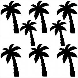 Strijkapplicatie strooi palmbomen