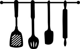 Stickers keukentje keukengerei
