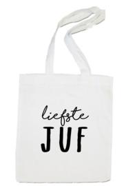 linnen tas -  Liefste juf