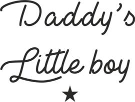 strijkapplicatie daddy's little boy
