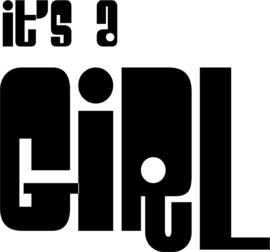strijkapplicatie It's a Girl