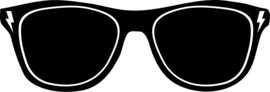 Strijkapplicatie zonnebril bliksem