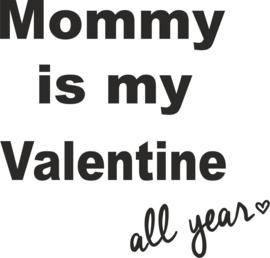 strijkapplicatie Mommy is my valentine