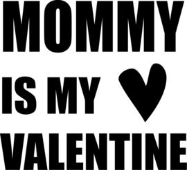strijkapplicatie mommy is my valentine hartje