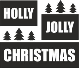 strijkapplicatie holly jolly kerstbomen