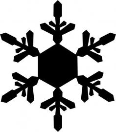 strijkapplicatie sneeuwvlok 7