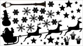 herbruikbare raamsticker kerst setje