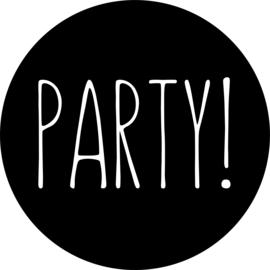 herbruikbare raamsticker verjaardag party! cirkel