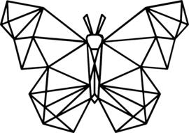 strijkapplicatie vlinder geometrisch