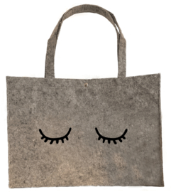 Vilten shopper wimpers