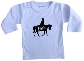 Kindershirt Sint op paard naam