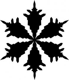 strijkapplicatie sneeuwvlok 6